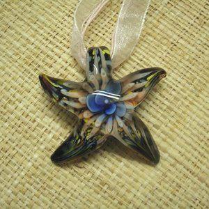 Muramo Glass Floral Starfish Necklace